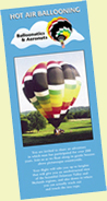 new jersey hot air balloon ride brochure